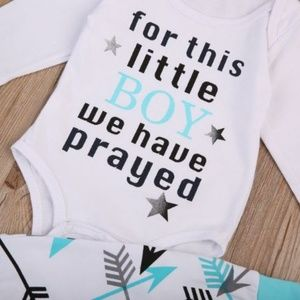 """Other - Baby """"for this little boy we have prayed"""" 3,9 mo."""